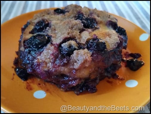 Blueberry Skillet Cake Beets