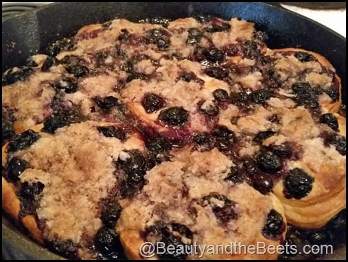 Blueberry Skillet Cake Breakfast