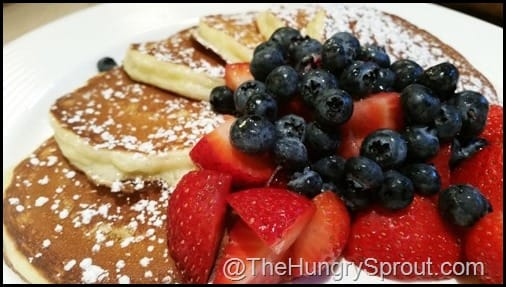 Pancakes and Berries from B-Line Diner- Orlando, FL