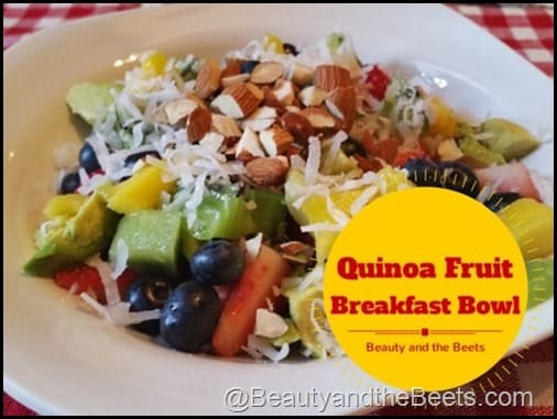 Quinoa Fruit Breakfast Bowl Beauty and the Beets