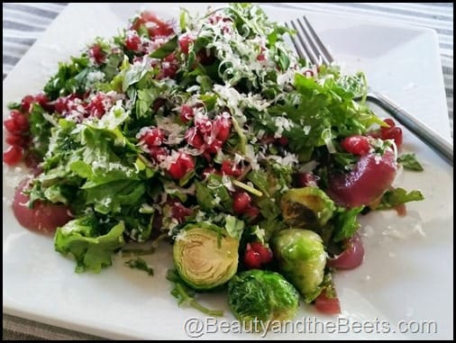 Fried Brussel Sprouts Salad Beauty and the Beets