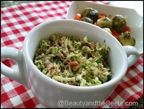 Brussels Sprouts Pecans Dijon Vinaigrette Beauty and the Beets