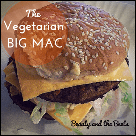 Vegetarian Big Mac Beauty and the Beets