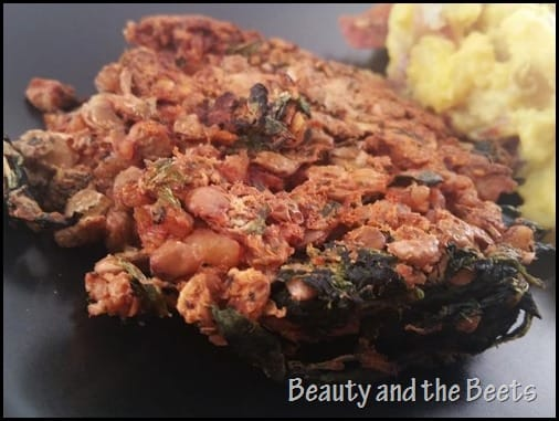 Beauty and the Beets Walnut Lentil Burger