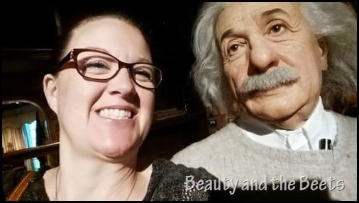 Albert Einstein Madame Tussauds Beauty and the Beets