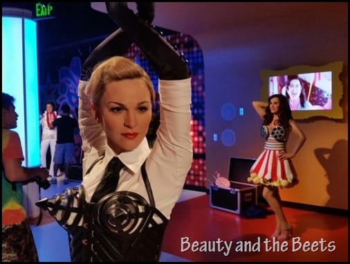 Madonna and Katy Perry Madame Tussauds Beauty and the Beets