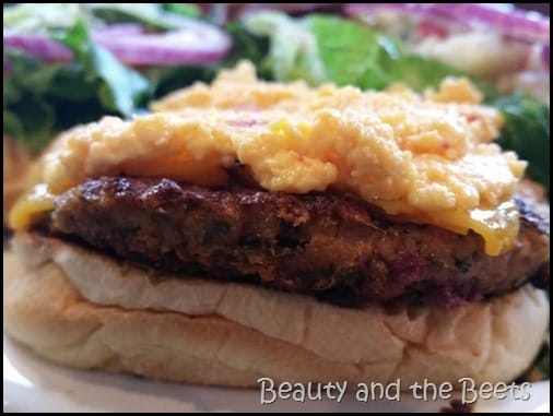 Pimento Cheese Veggie Burger Green Truck Pub Beauty and the Beets