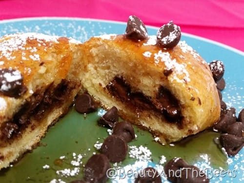 Chocolate Crescents Filling Beauty and the Beets