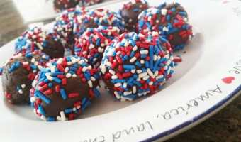 Independence Day Chocolate Truffles