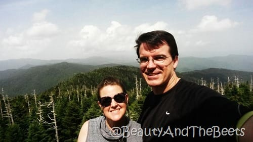 Clingmans Dome selfie Beauty and the Beets