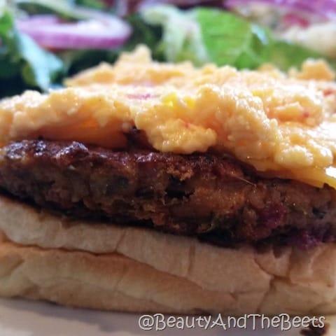Pimento veggie burger Green Truck Pub Savannah Beauty and the Beets