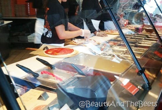 Blaze Pizza Assembly Line Beauty and the Beets