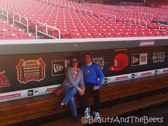Busch Stadium dugout Beauty and the Beets