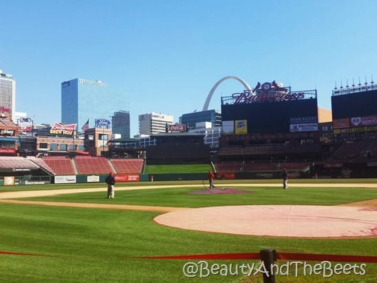 Busch Stadium home plate Beauty and the Beets