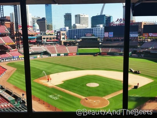 Busch Stadium media Beauty and the Beets