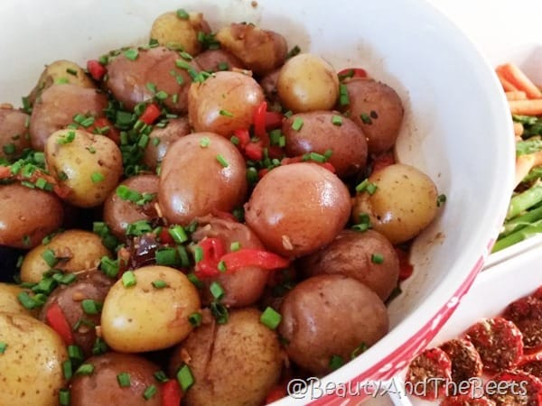 Balsamic Potatoes Beauty and the Beets