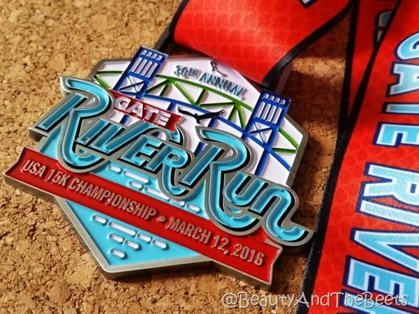 Gate River Run 2016 medal Beauty and the Beets