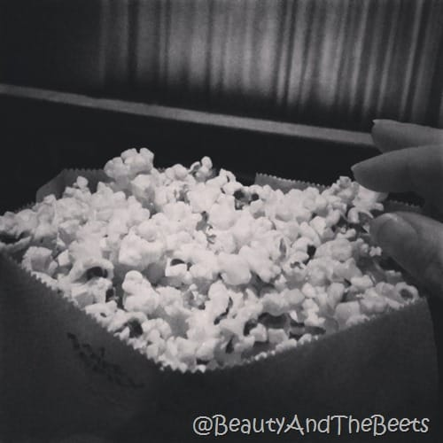 Popcorn at The Paris Theatre NYC Beauty and the Beets