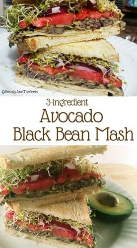 3- ingredient Avocado Black Bean Mash recipe Beauty and the Beets