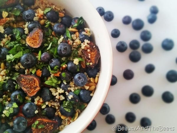 Blueberry and Fig Quinoa Salad love Beauty and the Beets