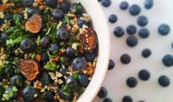 Blueberry and Fig Quinoa Salad with Lemon and Basil