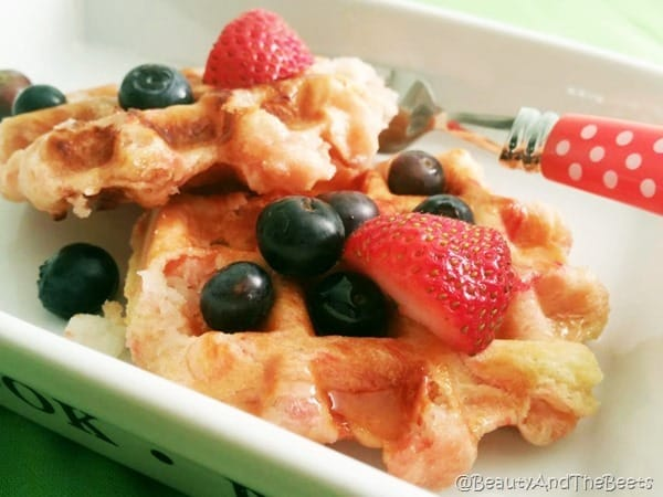 Beauty and the Beets Sugar Cookie Waffles 1