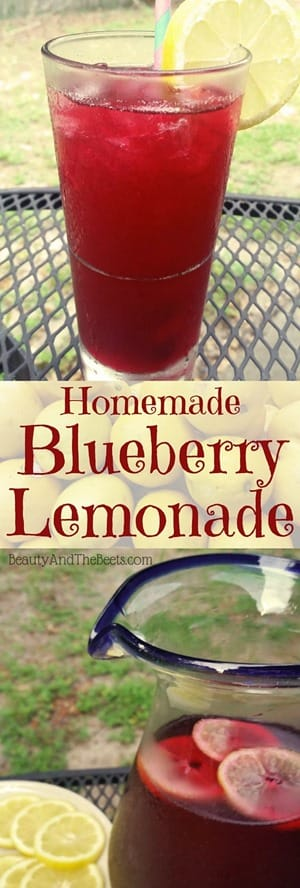 Blueberry Lemonade Beauty and the Beets homemade recipe