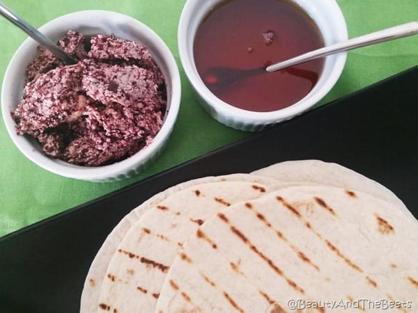 Grilled tortilla and blueberry butter Beauty and the Beets