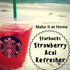 Make it at home Starbucks Strawberry Acai Refresher Beauty and the Beets