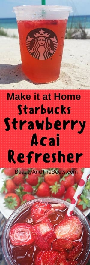 Starbucks Strawberry Acai Refresher Make it at Home