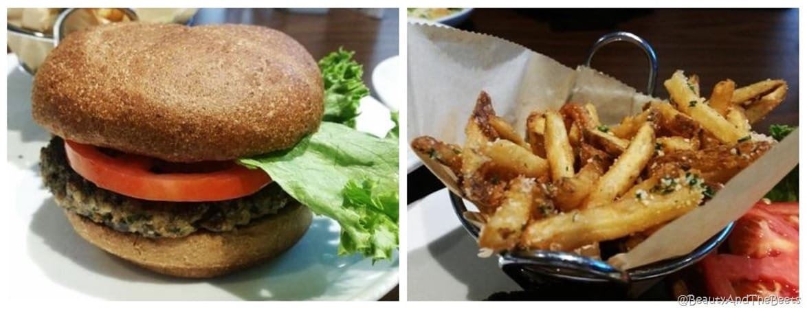 Duffy's Quinoa Burger and Truffle Fries Beauty and the Beets