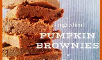 The Easiest 2-Ingredient Pumpkin Brownies Ever