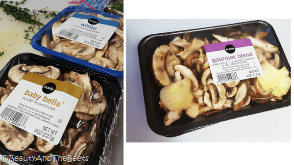 Publix mushrooms Beauty and the Beets