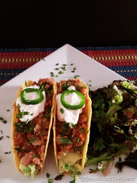 Beauty and the Beets Cauliflower Lentil Tacos
