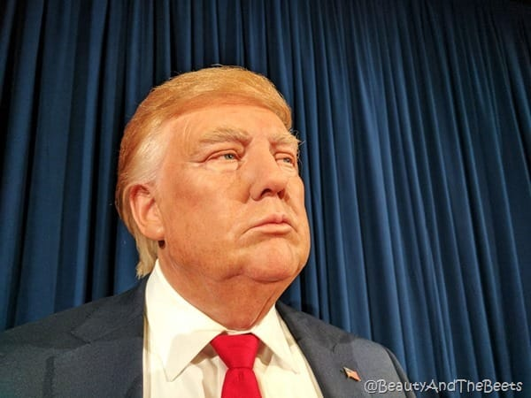 Madame Tussauds Orlando Beauty and the Beets Donald Trump