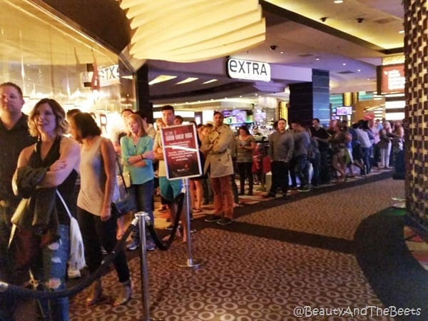 Line at BURGR Las Vegas Beauty and the Beets