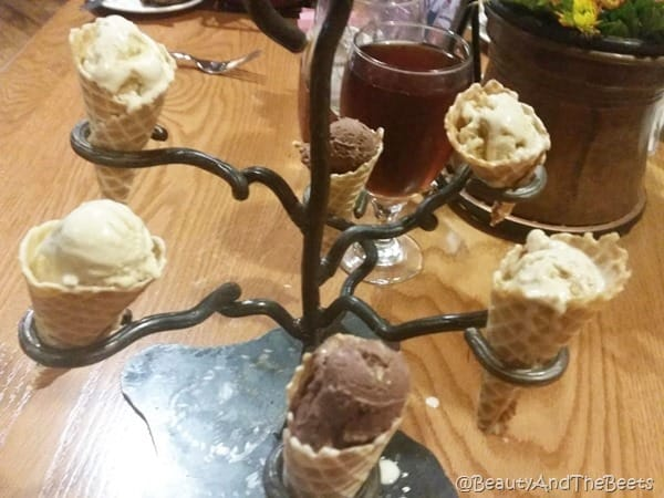 ice cream cone tree Dobyn's College of the Ozarks Beauty and the Beets