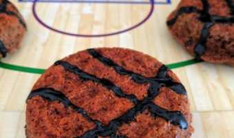 Basketball Cookie Cakes with Foodstirs