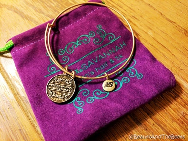 New Balance Publix Savannah Womens Half Marathon charm bracelet Beauty and the Beets