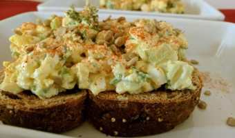 The Tastiest Egg Salad Toast