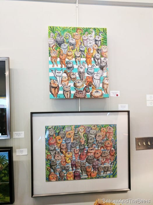 Brick City Center for the Arts Ocala paintings Beauty and the Beets
