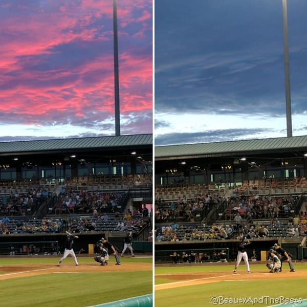 Charleston Riverdogs sunset Beauty and the Beets