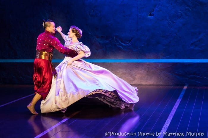 Jose Llana and Laura Michelle Kelly in Rodgers & Hammerstein's The King and I.  Photo by Matthew Murphy
