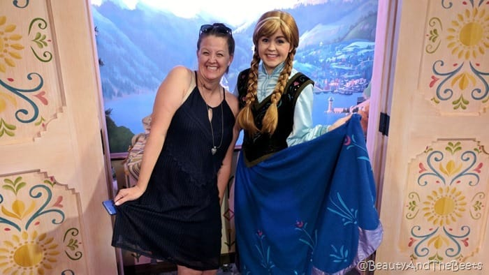 Princess Anna and Princess Anna Epcot Food and Wine Festival Beauty and the Beets