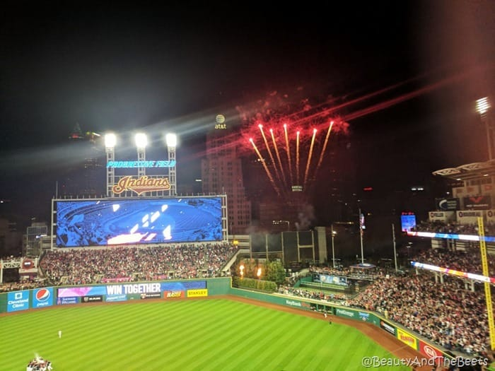 Cleveland Indians win 22 fireworks Beauty and the Beets
