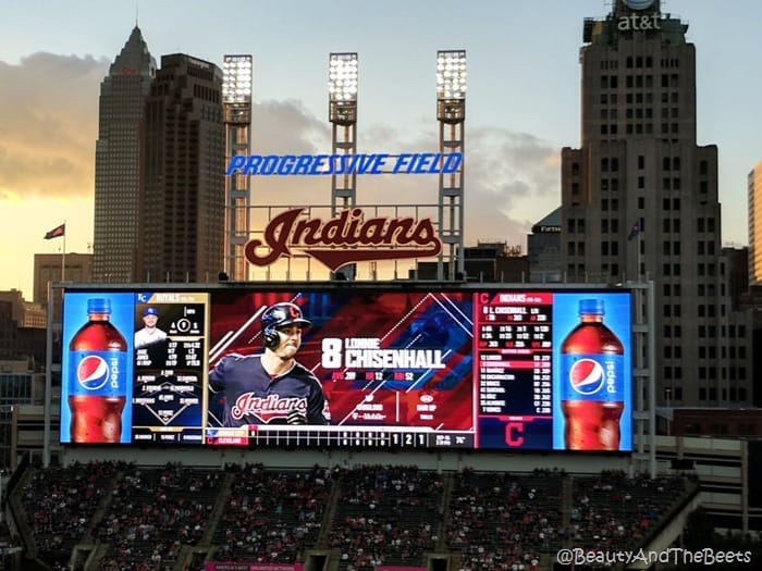 Progressive Field big screen Cleveland Indians Beauty and the Beets
