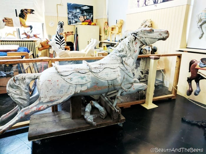 wooden horse Merry Go Round Museum Sandusky Beauty and the Beets