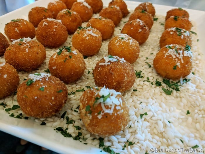 Arancini di Carne Maria and Enzos Disney Springs Beauty and the Beets