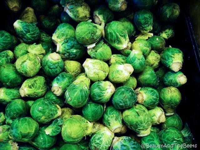 Green Brussels Sprouts Beauty and the Beets