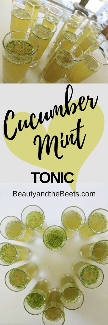 Cucumber Mint Tonic by Beauty and the Beets